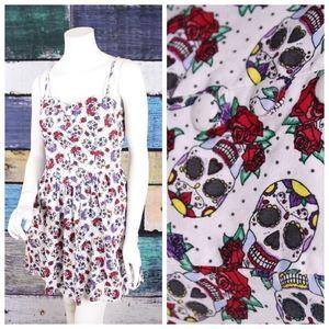 Hell Bunny Candy Skull Pinup Rockabilly Dress